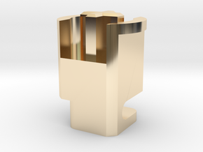 Topre to MX 6u Stabilizer Plunger (Left) in 14k Gold Plated Brass