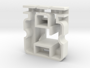 Topre to MX 6u Stabilizer Housing (Left) in White Natural Versatile Plastic