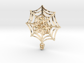 Spider_pendant[1] in 14k Gold Plated Brass