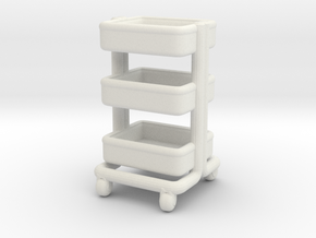 Miniature Kitchen Cart - IKEA in White Natural Versatile Plastic: 1:24