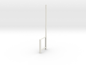 Part A Dressing room stool (for 1:10 figure)  in White Natural Versatile Plastic