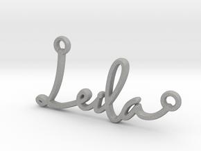 Leila Script First Name Pendant in Aluminum