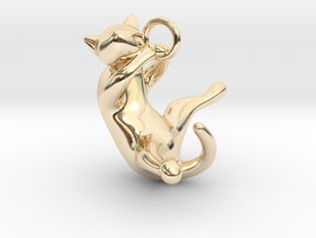 cat_001 in 14k Gold Plated Brass