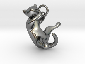 cat_001 in Polished Silver