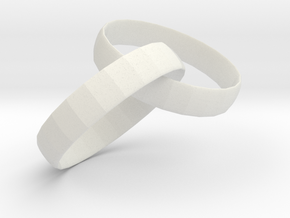 鑰匙圈鑰匙圈 in White Natural Versatile Plastic: Extra Small