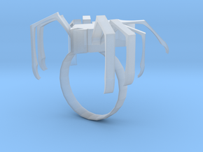 Spider ring in Smooth Fine Detail Plastic: 5.5 / 50.25