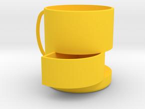 零食杯 in Yellow Processed Versatile Plastic