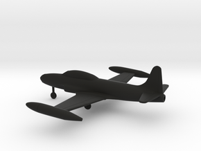 Lockheed T-33 Shooting Star in Black Natural Versatile Plastic: 1:160 - N