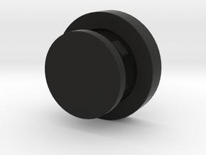 Cufflinks in Black Natural Versatile Plastic