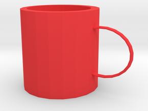 Small mug in Red Processed Versatile Plastic