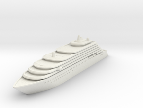 Ritz Carlton Yacht - V3 - 8cm in White Natural Versatile Plastic