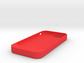 Line charger phone case in Red Processed Versatile Plastic: Small
