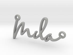Mila Script First Name Pendant in Aluminum