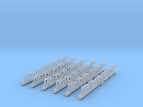 1/400 DKM Vent Tubes Set x132 in Smooth Fine Detail Plastic