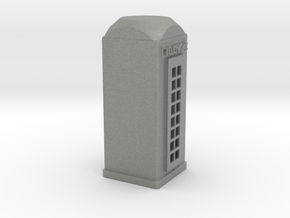 HO Scale Telephone Booth in Gray PA12
