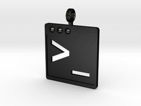 Bash Shell Keychain in Matte Black Steel