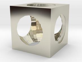 Cube in 14k White Gold