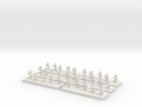 6mm Infantry Platoon in White Natural Versatile Plastic