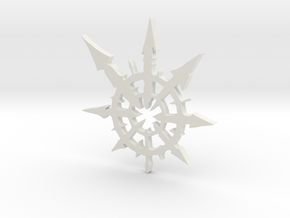 Chaos Star Medium in White Natural Versatile Plastic