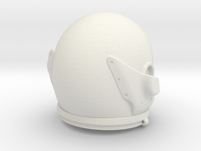 Gemini Helmet 1/6 Scale in White Natural Versatile Plastic