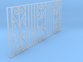 Dolls House Fence 1/24 scale in Smooth Fine Detail Plastic