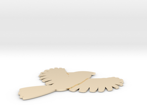 Bird in 14k Gold Plated Brass