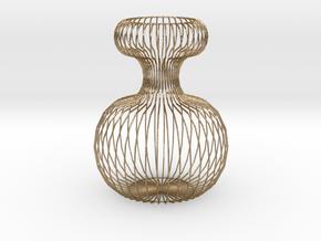 Vase Ornament in Polished Gold Steel