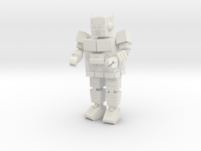 Intergalactic Robot HO scale in White Natural Versatile Plastic