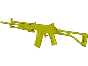 1/15 scale IMI Galil ARM rifle x 1 in Smooth Fine Detail Plastic