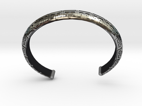 Chinese Pattern Bangle in Antique Silver