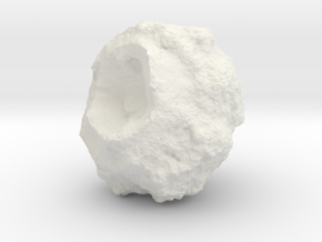 Battle-Scarred Asteroid for 2/6mm Space Battles in White Natural Versatile Plastic