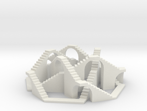Walkable (5,3) Torus Knot in White Natural Versatile Plastic
