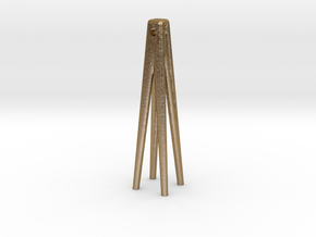 edges earring in Polished Gold Steel