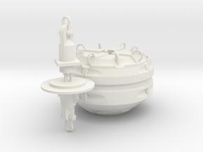 Mobilis AMR 5000 mooring buoy - 1:50 in White Natural Versatile Plastic