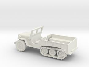 1/87 Scale Halftrack Jeep in White Natural Versatile Plastic