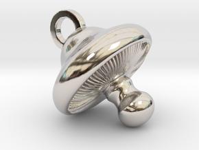 Little Mushroom Pendant in Platinum
