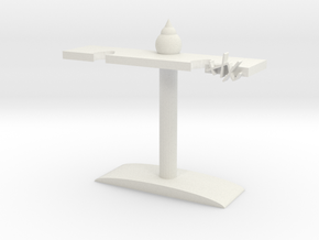 Headphone holder in White Natural Versatile Plastic: Medium