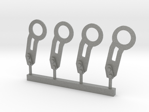 Tow Hook 4 pcs Set - 1/10 in Gray PA12