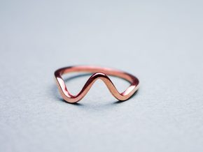 Wave Ring in 18k Gold Plated Brass: Small