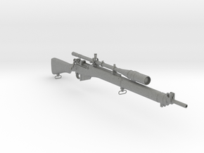 1/3rd Scale Enfield Sniper Rifle in Gray Professional Plastic