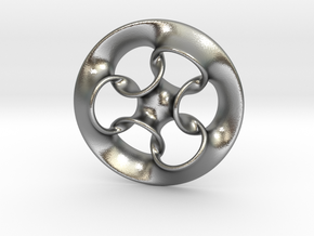 """""""Seven Rings""""  in Natural Silver"""