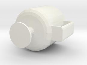 Handle goblet in White Natural Versatile Plastic
