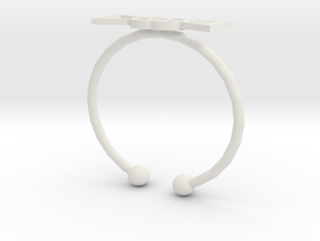 Elapse Ring in White Natural Versatile Plastic
