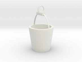 Tears bucket pendant in White Natural Versatile Plastic