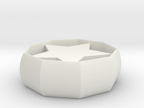 star coaster in White Natural Versatile Plastic