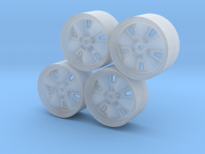 Set of four Chaparral 1 wheels in Smoothest Fine Detail Plastic