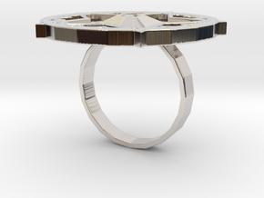 "Sawaleh ""star"" ring in Rhodium Plated Brass: 6 / 51.5"