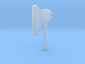 3mm Powered Axe in Smooth Fine Detail Plastic