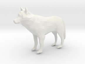 Low Poly Wolf in White Natural Versatile Plastic