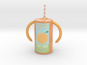 Juice Cylinder (new design) in Glossy Full Color Sandstone